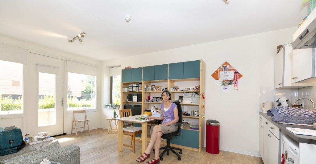 17 lichte, smaakvol ingerichte appartementen om relatief zelfstandig te wonen